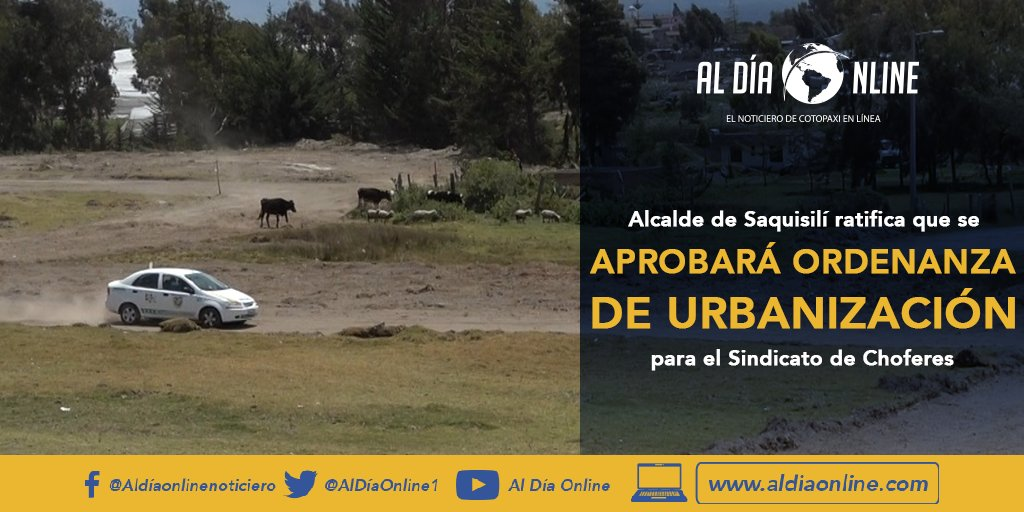 🔴#NoticiaLocal 🔵Link de la noticia completa:   https://t.co/Cdr2Fge9cX  #Cotopaxi #Saquisilí #MunicipioDeSaquisilí #SindicatoDeChoferesSaquisilí #Covid19Ec #EmergenciaSanitaria https://t.co/26GLunDPTi