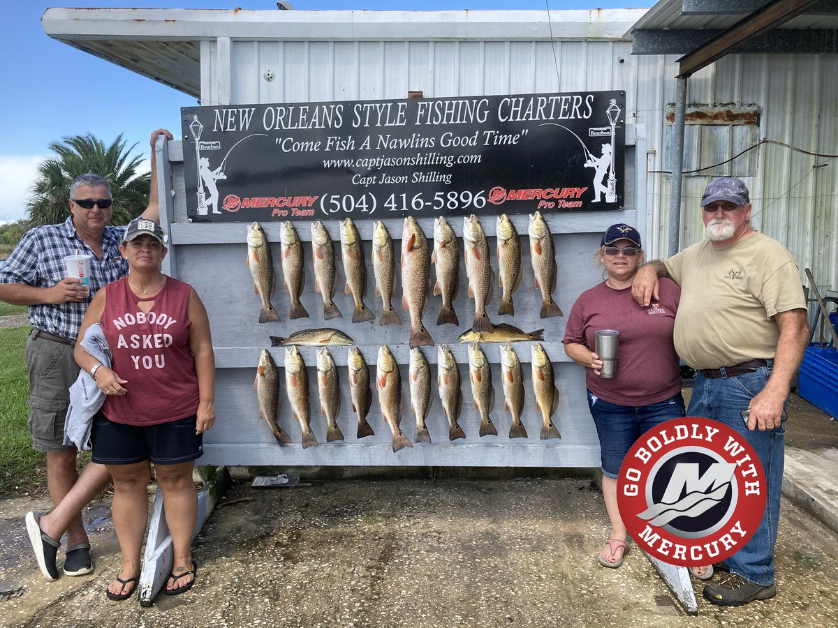 """Nawlins_style: #Indiana crew had a good day catching #red fish on the bayou. Thanks again y'all. It was my pleasure fishing with y'all   """"COME FISH A NAWLINS GOOD TIME"""" 504-416-5896 #NewOrleansFishingCharter #NewOrleansFishing #Seaclearly #MercuryMarine … https://t.co/DtQyfd2UuB"""
