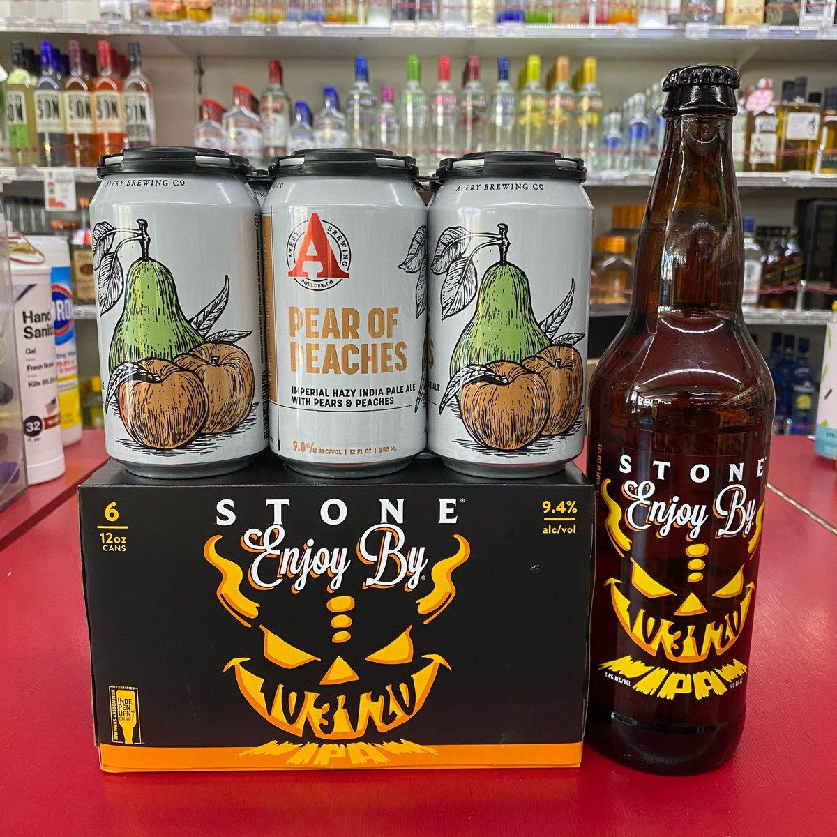 Now in stock! @averybrewingco #pearofpeaches #imperialhazyipa #hazyipa #peaches #pear @stonebrewing #enjoyby #ipa #beer #craftbeer #bottleshop #3ten #3tenliquor #shoplocal #cheers https://t.co/lSo3cW68Np