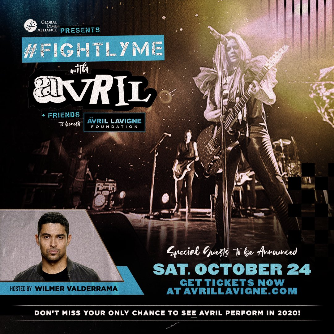 Thank you @WValderrama ! We can't wait to have you as our host for #FightLyme with Avril & friends, Tix on sale now:  @AvrilFoundation