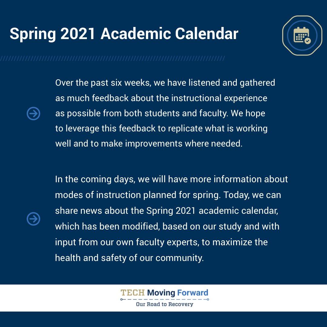 Pictures of Georgia Tech Academic Calendar Spring 2021