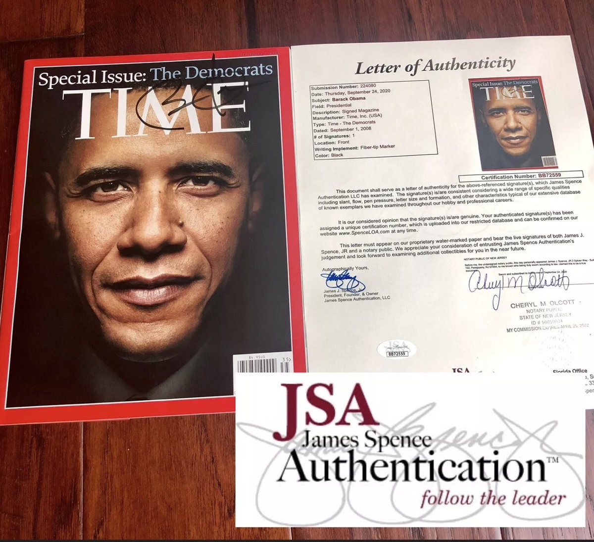 Check out  BARACK OBAMA  Authentic autograph Time Magazine Cover **WITH PROOF** Full authentication by JSA.  https://t.co/UDLPqceT9v @eBay  #obama @BarackObama #biden @JoeBiden #autographs #autograph #history https://t.co/TAi6aexjrJ