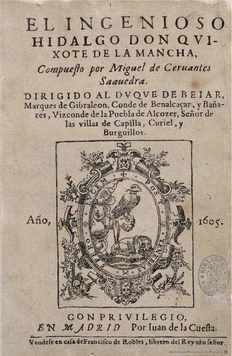 También un 29 de septiembre, este de 1547, nacía Miguel de Cervantes. Aquí podéis ver la colección cervantina de nuestra Biblioteca Digital: https://t.co/9ZcKka7btL https://t.co/FyAxStKvG3