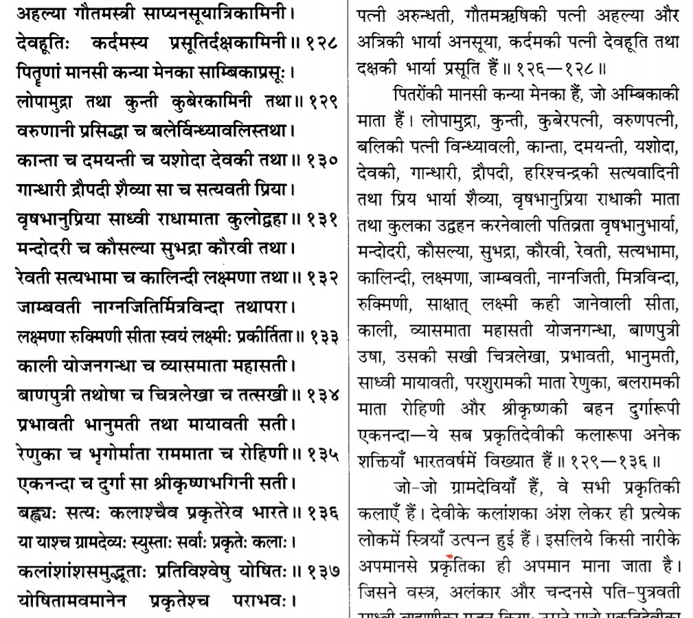 This is special lesson for those who call themselves Hindu and then abuse women here. Read these Points carefully(Devi Bhagwat 9.1) ALL WOMEN ARE PART OF DEVI, Insulting ANY woman is insult of Devi Prakriti herself. So DO NOT insult them Next point -