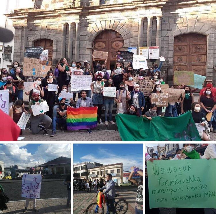 #28Sep 💚💜🏳️🌈 Ibarra en resistencia frente a un Estado opresor, en rechazo al veto total del #COS  Estamos juntes  #LaSaludNoSeVeta #LGBTIQ #MisDerechosNoSeVetan #MiSexualidadMiDerecho https://t.co/hZu9atB64i