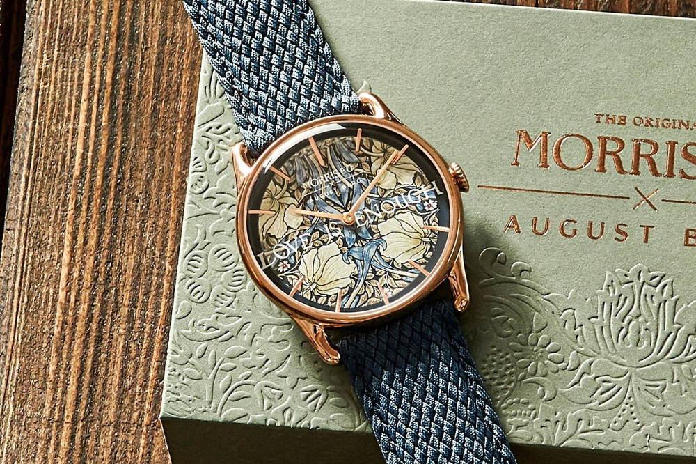 """""""宝石のように輝く""""ウィリアム・モリスの植物柄腕時計、デンマークのオーガスト・バーグから -"""