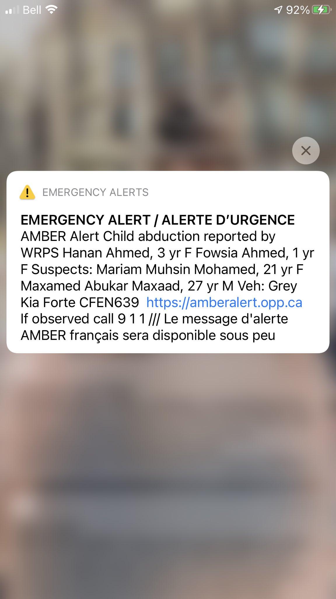 Marivel Taruc On Twitter Amber Alert Issued By Waterloo Regional Police