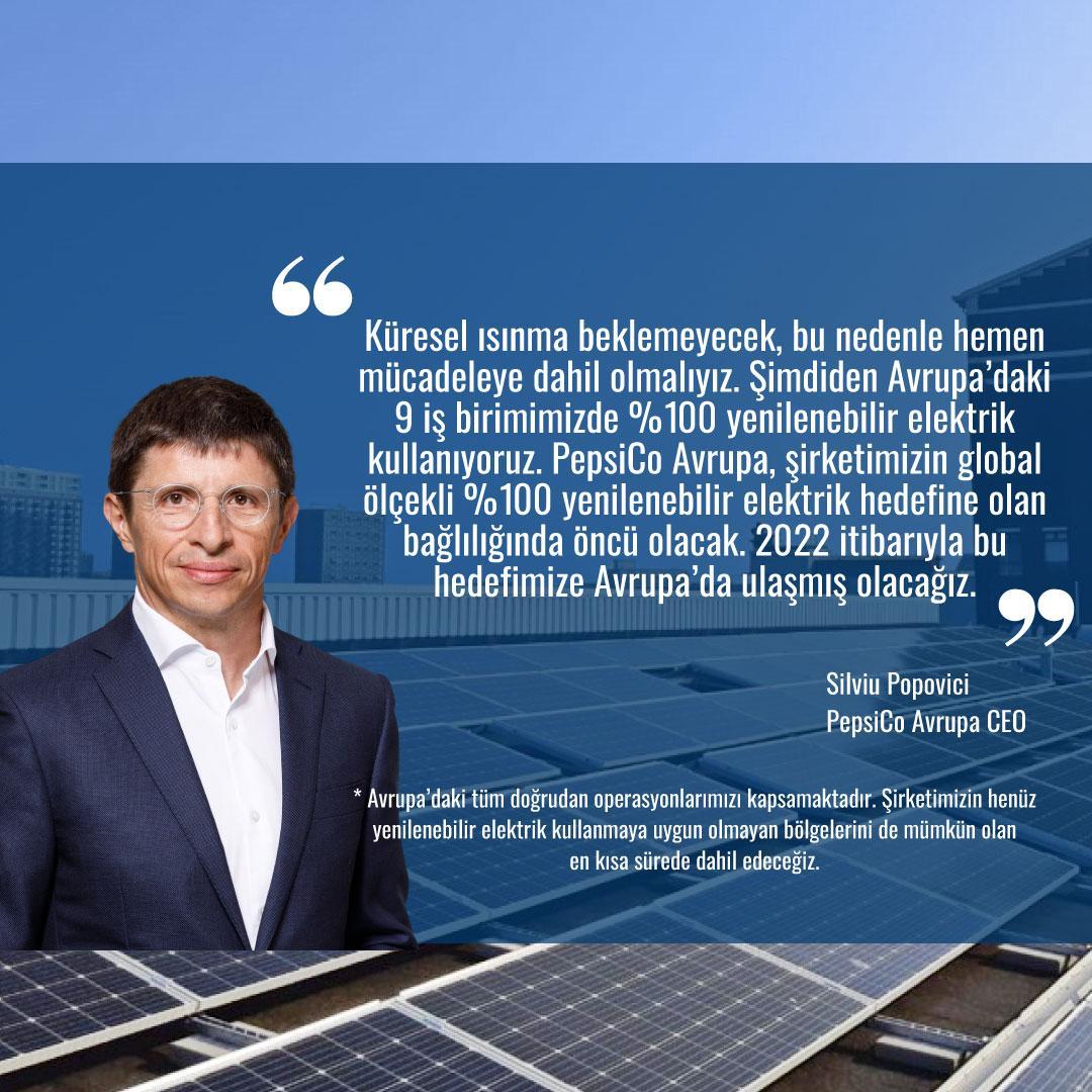 Küresel ısınma cesur aksiyonlar gerektiriyor. Geçtiğimiz günlerde, 2022 itibariyle tüm Avrupa'da %100 yenilenebilir elektrik kullanacağımızı açıkladık. Doğrudan operasyonlarımızda 2030, global operasyonlarımızda 2040'a kadar %100 yenilenebilir elektrik kullanmayı hedefliyoruz. https://t.co/K7pVml0gaL