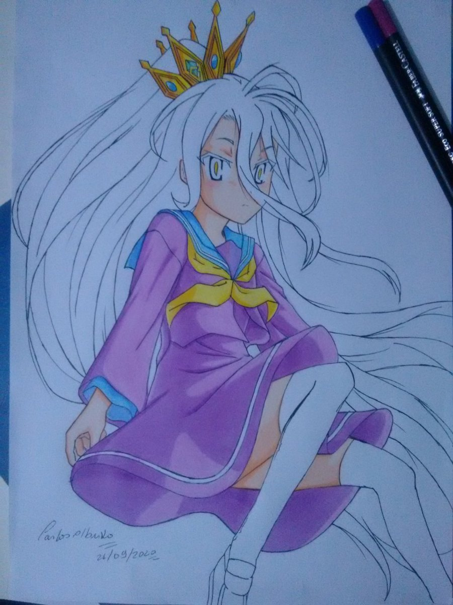 Mais uma etapa da fanart!!  https://t.co/2dOoZvSqMc  #fanart #Fanarts #drawing #desenhando #anime #animegirl  #Animes #nogamenolife #shiro #shironogamenolafe  @NoGameNoLifeTV  @NogameNolife07 https://t.co/WsVlzKUrld