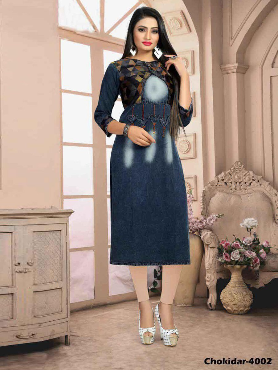 #guptatrendy #guptatrendyproducts #saree #designersaree #designer #beauty ❣️Denim Kurti With Koti And Fancy Button❣️ ❣️Preference Best Quality👌❣️ 💯Premium quality💯 #denim ⬇️Buy now click here ⬇️      https://t.co/bcW0ip9woW            ⬇️ OR ⬇️ e-mail us: parthtrendy@gmail.com https://t.co/ChYv4yAzEl