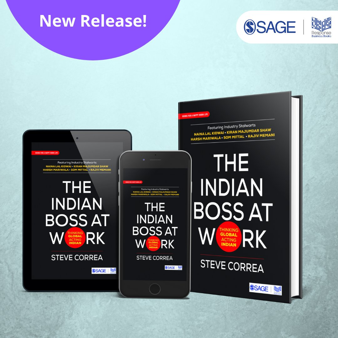 This book lays bare the traits that make an Indian leader unique, #effective, and #successful, both in India and abroad. Know more and order your copy @ https://t.co/EXArv8kHeE   #SAGEResponse #IndianBoss #IndianLeaders #Leadership @SteveCorrea1122 https://t.co/e5mjbAVmMK