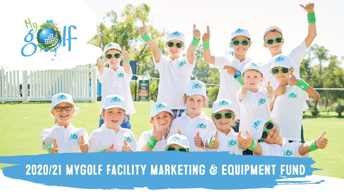 Get involved with #MyGolf and earn a grant for your club! 🧒👧  Receive a marketing or equipment grant by running a program in Term 4 👉 https://t.co/Fod99GAKWP  And any centre that runs a MyGolf Girls 🏌️♀️ come and try day is eligible too! 👉 https://t.co/lnQery82Jn  #GameForLife https://t.co/7OXfpBLFIj
