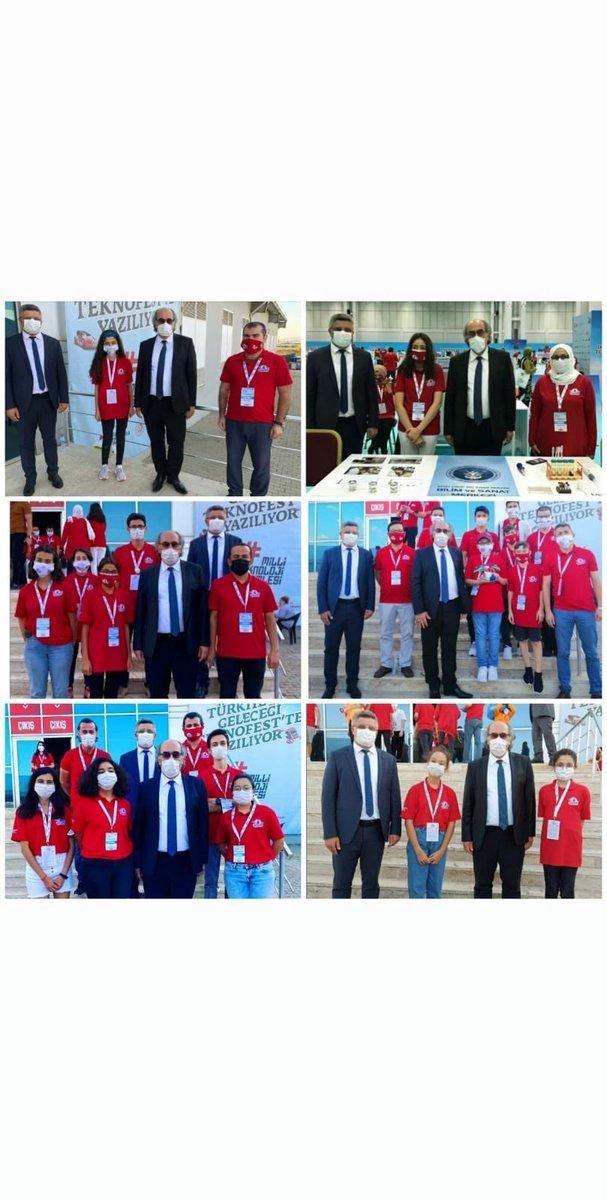 Gaziantep #TEKNOFEST2020 hatırası📸 6 Türkiye 1. si🥇 5 Türkiye 2. si🥈 5 Türkiye 3. sü🥉 Kendi icatlarını ve projelerini yapan BİLSEM öğrencilerimiz gelecekte de insansız araçlarını ve robotlarını yapacaklar inşaAllah.✈️🚀 Gönül ve emek veren herkese teşekkürler.  @ziyaselcuk https://t.co/y68I8M8NlI