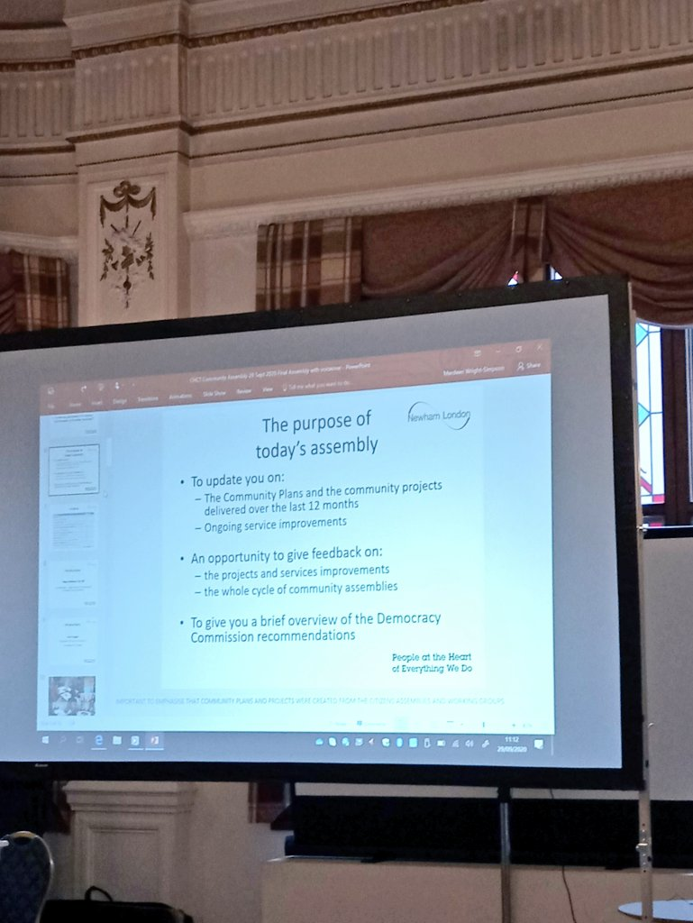 Attending a covid compliant #CustomHouse and #CanningTown Community Citizens Assembly. A review of neighbourhood priorities, projects and achievements over the year from #flytipping, Bring Back Business to CH and CT, #GreenGrants and improvement of #greenspaces. #Newham https://t.co/OtlMOOVdyp