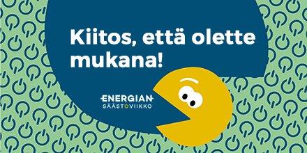 Valtakunnallinen #energiansäästöviikko on jälleen 5.–11.10.2020. Tervetuloa mukaan nappaamaan energiasyöppöjä! @Mylly_Oy https://t.co/sO8cdpLR2N