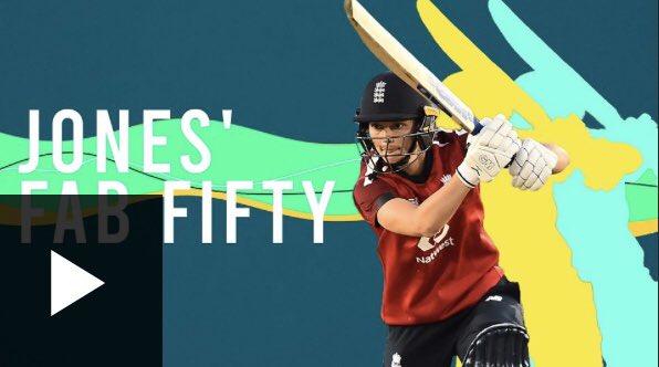 WATCH: @amyjones313 strikes match winning 55 as @englandcricket go 4 nil up in the T20s against @windiescricket. 🎥 bbc.co.uk/sport/av/crick… #bbccricket #ENGWvWIW