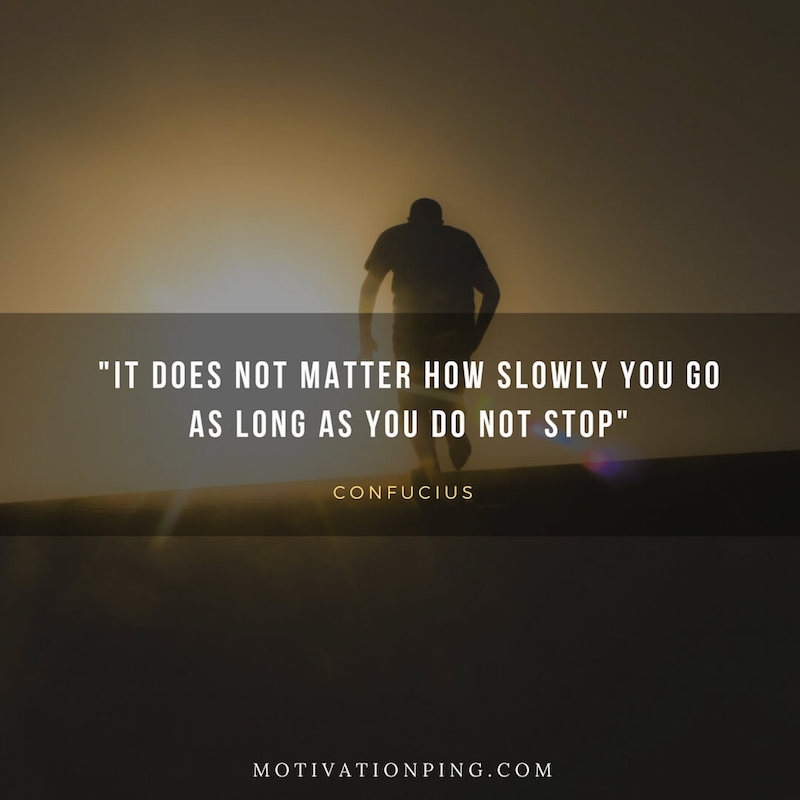 It does not matter how slow you go as long as you do not stop.  #citation #quotes #motivationalquotes #motivation #StayHomeStaySafe #FridayFeeling #fbf #FlashbackFriday #FridayMotivation https://t.co/rIH5TFK6HM