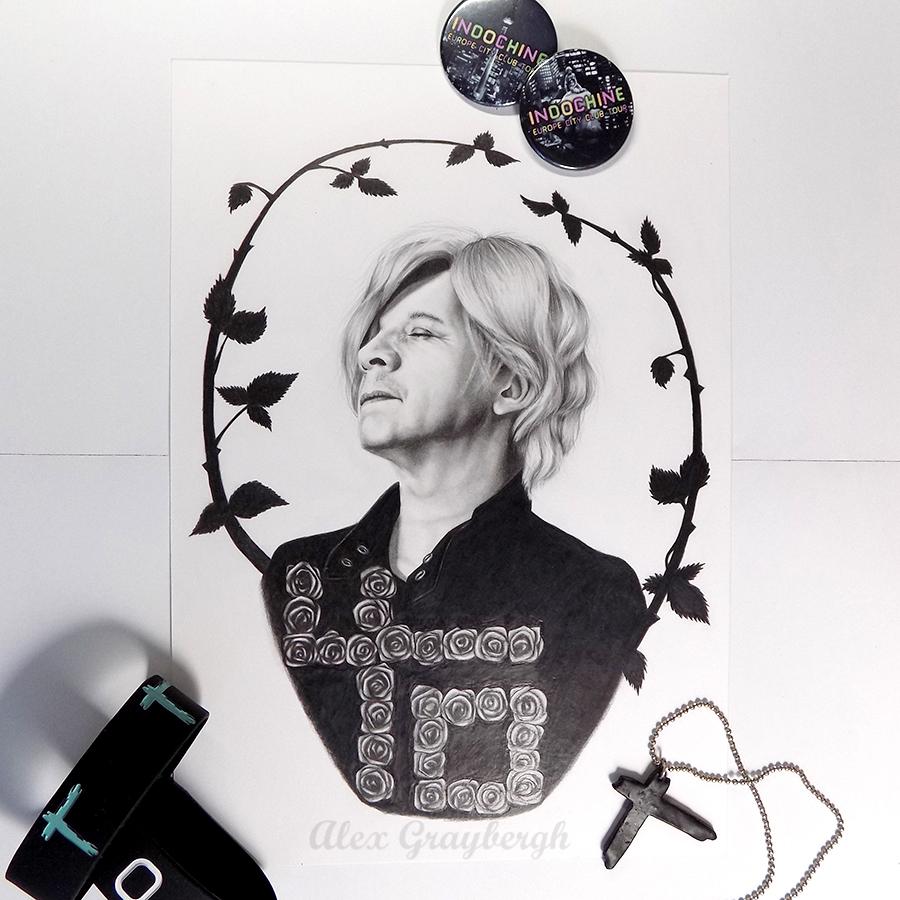 Finished #drawing of #nicolasirkis of #indochine #fanart #indo40 #indofans #indofan #art #portraitdrawing #portraitart #indo #centraltour #pencilart #pencildrawing #graphite #graphiteart #graphiteportrait #realisticart #realisticdrawing #realism #realisticportrait #dailyart https://t.co/0SJh2NoRiu