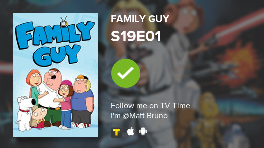 I've just watched episode S19E01 of Family Guy! #tvtime https://t.co/Rl0aGyaTeU https://t.co/7ClkREIkPV
