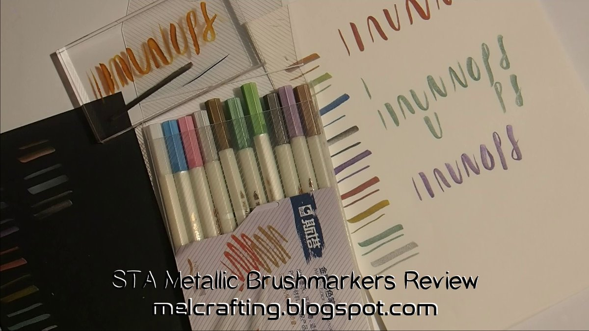 STA metallic brushmarkers #STA #review #brushmarkers #metallic #calligraphy #lettering #aliexpress #arty #papercraft @CraftingMel  https://t.co/LKvruIvVWt https://t.co/c809NmgHf8