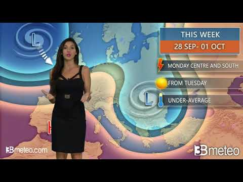 #La-meteo.it #lameteo #meteo - VIDEO METEO: Weather forecast for Italy THIS WEEK 28 Sep - 01 Oct - https://t.co/YWFom8u0R5 https://t.co/wMzxbc5e3p