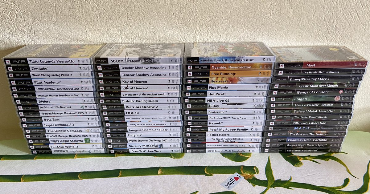 Found some #PSP sealed games in the loft. Had forgotten all about them. #retrogaming #playstation https://t.co/88fyDcHdG2