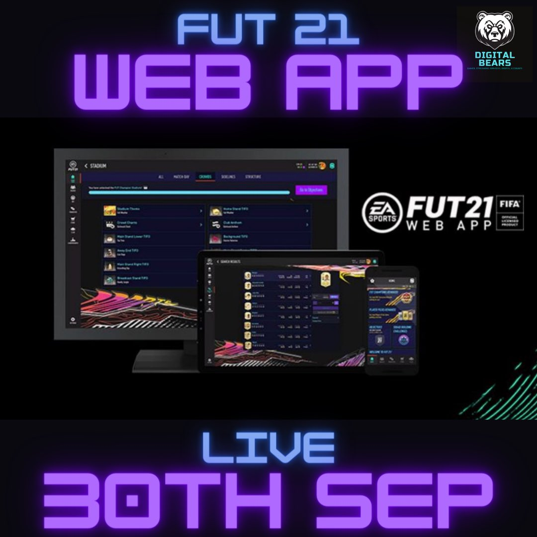 FUT 21 Web App is going live TOMORROW! Excited? #futweb #futwebapp #fifa21 #fut21 #easports #easportsfifa #ps4 #playstation @BlazedRTs @jornaldoFIFA @GamingRTweeters @SGH_RTs @Mighty_RTs @ https://t.co/puHRfSGCtM