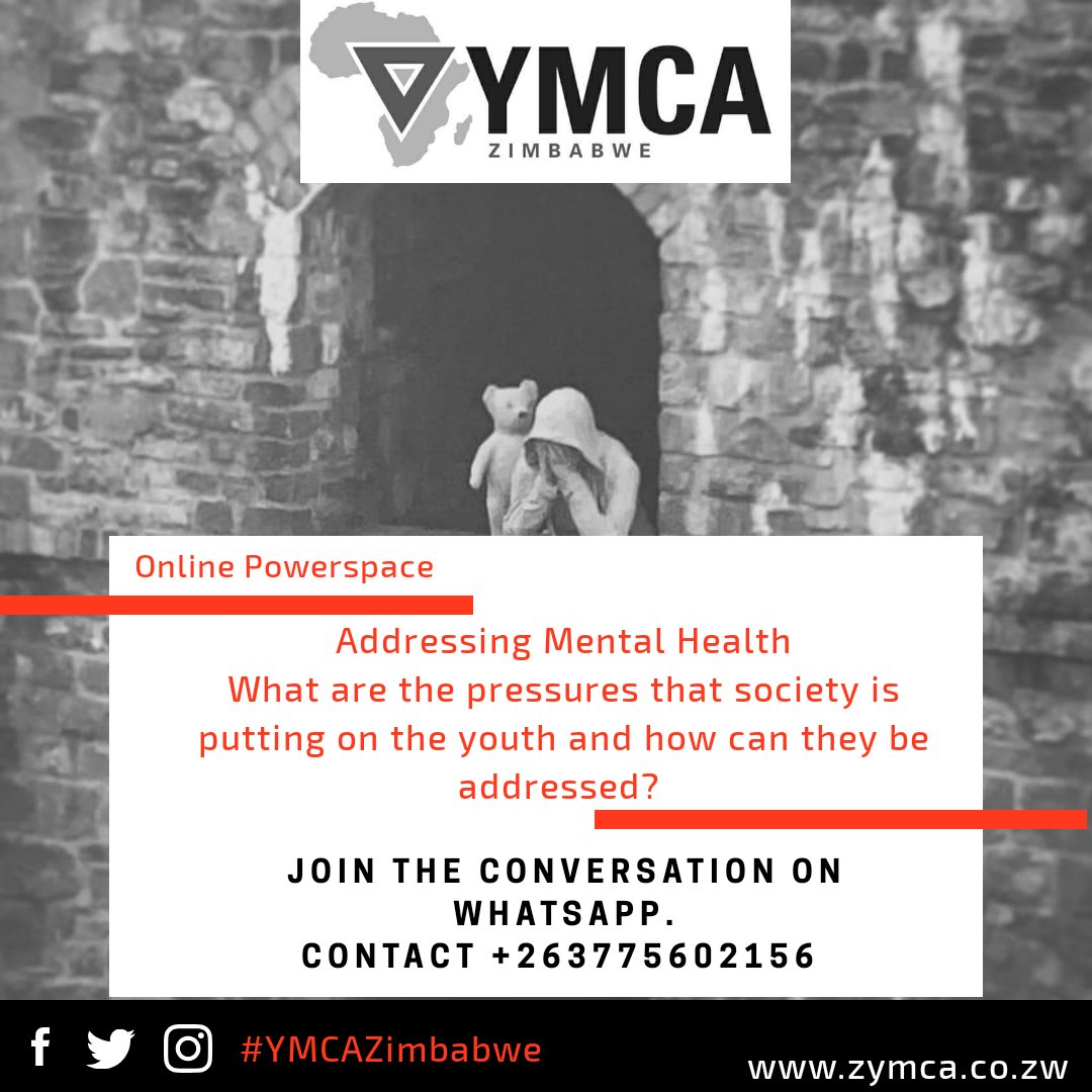 Join us today as we Address Mental Health Click the link to join.  https://t.co/nzNHb79BTs  #2063OurAgenda #MentalHealth @NAYOZimbabwe @SAYWHATOrg @Africa_YMCA @ecozim @usembassyharare @friendshipbench @GlenDhliwayo @UNZimbabwe https://t.co/zMHjLQ9smo
