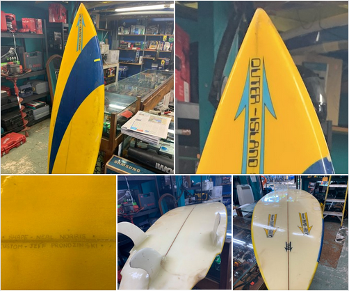 """OUTER-Island Surfboard 5'11"""" quad bat tail, fair condition $300 Info: #808-667-7689 https://t.co/35SsOcfBsR #surfboardforsale #surfing #surfer #maui #surf #localsurfboards #hawaiisurfboards #hawaiisurfboardshapers #nealnorris #mauisurfboardshapers #mauisurfboards #localshapers https://t.co/RK96jW3GDa"""