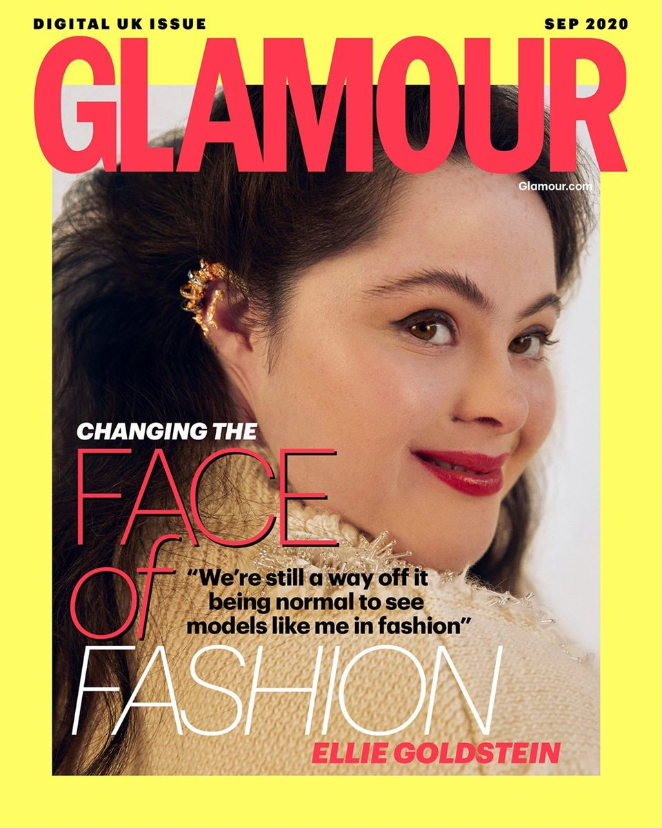 For its September issue, @GlamourMagUK is changing the faces of fashion. The three special digital covers include models @Kinglimaa, Brielle Anyea and Ellie Goldstein, who is the first model with Down's syndrome to star in a Glamour cover globally. https://t.co/MAJWH53lzs