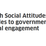 Image for the Tweet beginning: *NEW* Scottish Social Attitudes 2019: