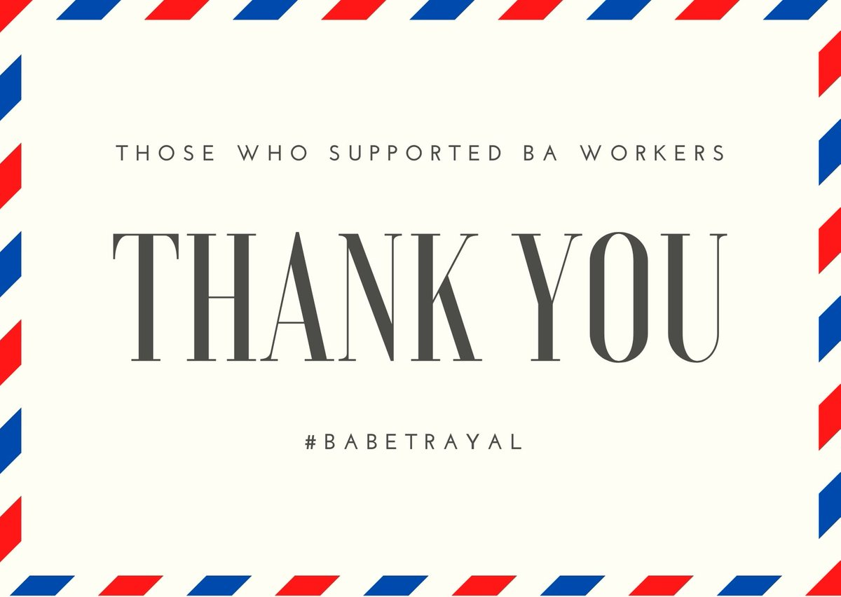 Thank you to EVERYONE who stood up for BA staff. Public, MP's & celebs. @British_Airways & other employers must know that they need to show more respect to their staff. Staff make the company what it is, using #fireandrehire is unacceptable and immoral, your staff are worth more. https://t.co/gJnT7Pih9c