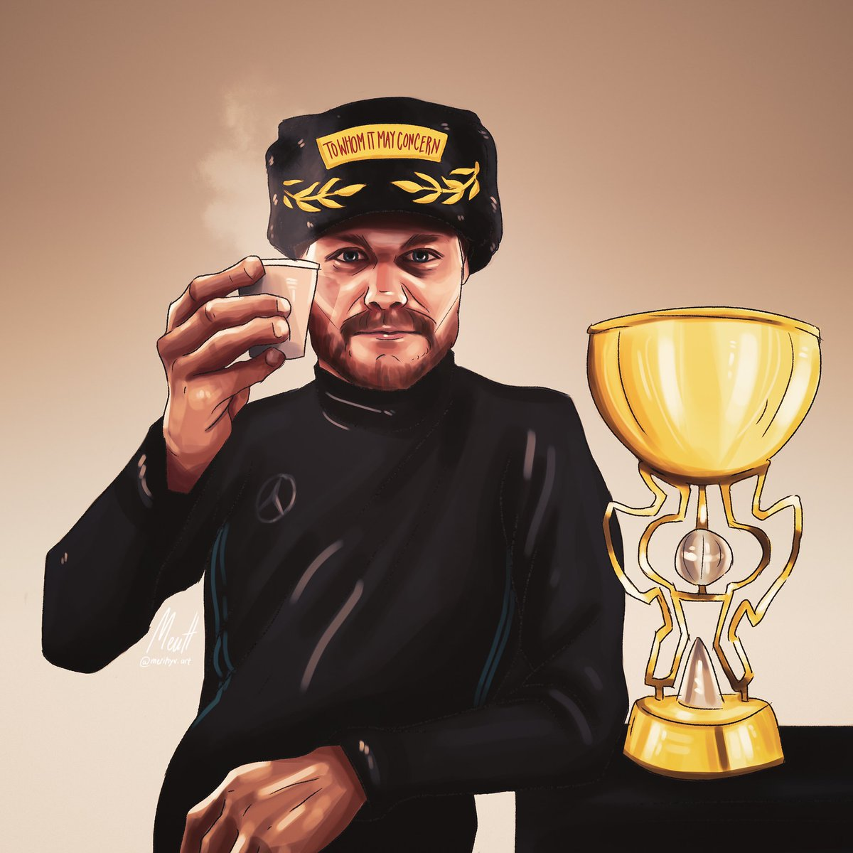 The Coffee Boss. 🧔🏼☕️🏆  🎨 x @merihyvart https://t.co/fcyk6tp04q