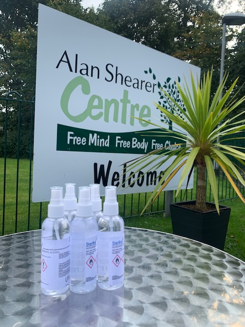 Thank you to @sterling_pharma for donating 50 bottles of hand sanitiser to be used at the Alan Shearer Centre.  Your support is greatly appreciated!