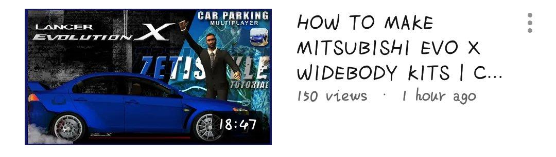 Car Parking Multiplayer 📌 | zeti • widebody • #CarParkingMultiplayer #CPM #Gaming #Gameplay #Game #Openhood #Livery #Widebody #LibertyWalk #Tutorial #RustyDecals #YouTuber #YoutubeGaming #zeti #MitsubishiEvoX https://t.co/ZDfdj2foFx