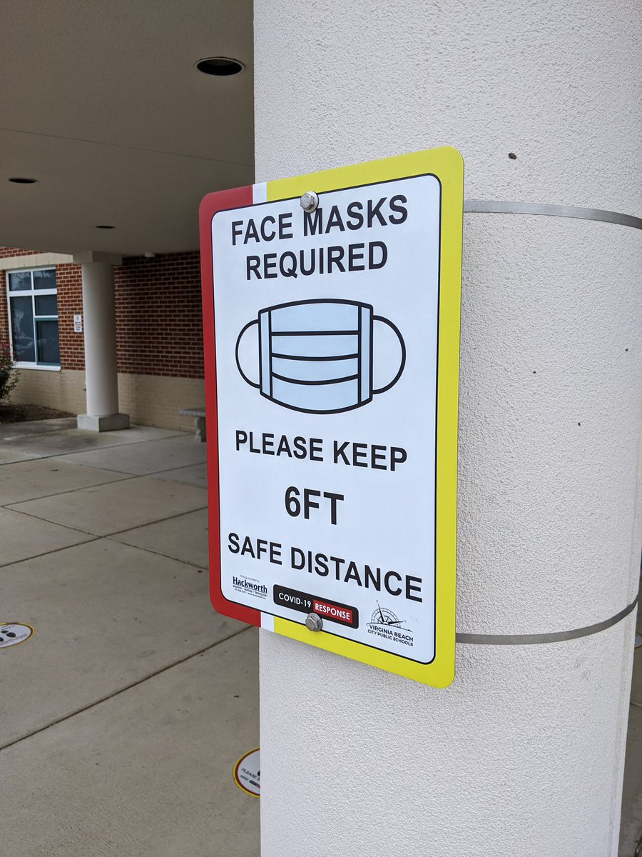 Safety measures in place here at @WTCookeSchool are looking awesome! Thank you to all of our admins, teachers, custodial and other staff who have made this happen!! #VBSafeTogether #VBAlwaysLearning @CongerCasey @BeachSupe https://t.co/YiKhKVOnPs