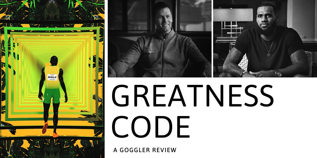 """Does the Apple TV+ show live up to its bold marketing claim of being a """"landmark short-form unscripted series?"""" Read the Goggler review of Greatness Code now.  https://t.co/E88Bf4p9cT  #GreatnessCode #AppleTVPlus #LeBronJames #TomBrady https://t.co/NrWC0b2qHH"""