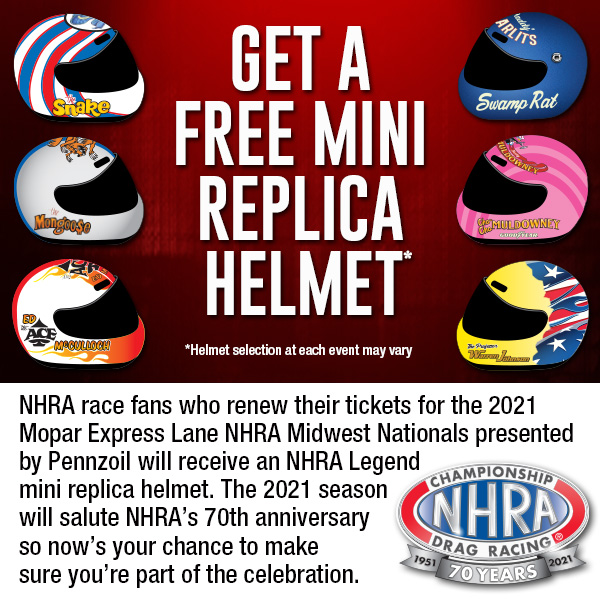 NHRA 2021 renewals will begin on site this weekend‼️  $20 deposit to renew. With your deposit, you will also receive a mini helmet.   Renewals will be available at the midway kiosk on Saturday and Sunday. https://t.co/zq3PYtVzQW