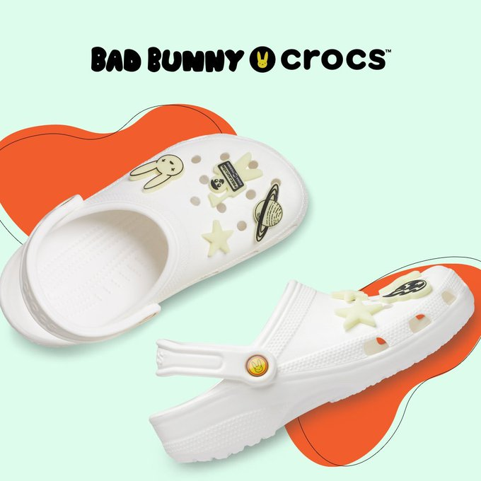 Ad: Bad Bunny x Crocs Classic Glow Clog dropping in 30mins  Crocs => https://t.co/lGhg1a2WzN  Finish Line => https://t.co/ULgOih2KhS (refresh at 12pm ET for live product page) https://t.co/gSSv7oqdt0