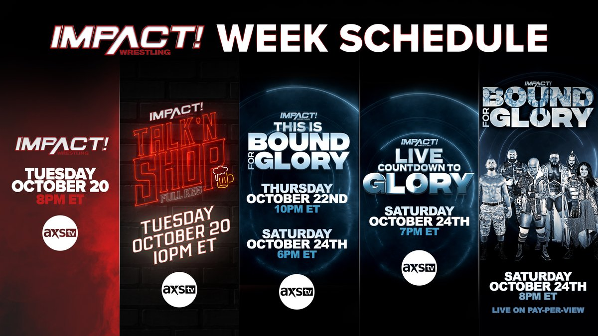 """""""Impact Wrestling Week"""" Schedule Announced For The Lead Up To Bound For Glory"""