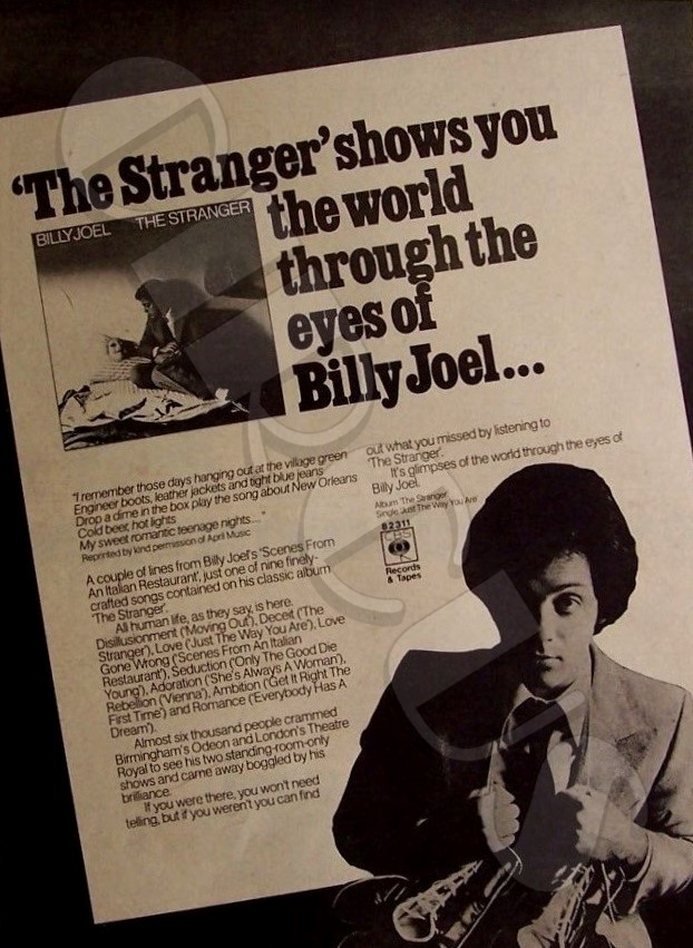 Sep. 29, 1977: #BillyJoel released #TheStranger record.  EPK  https://t.co/K3i75MnZzS  🎹 In The Studio  https://t.co/Q9S4KGr3g5  🎼 Movin' Out♦️Just The Way You Are  🖥️ https://t.co/RLhVt3XIkP  #rock #music #OTD  = https://t.co/dMW5x1k0FY =  Is this his best album? https://t.co/jqdkbr9oNv