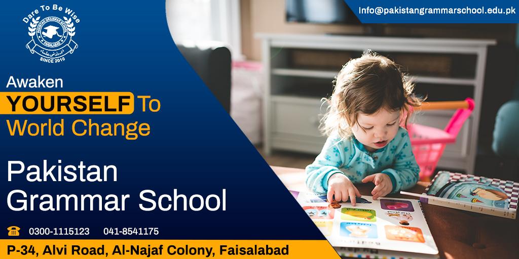 Awaken yourself to world change  Admission Open 2020-21 📢📢 👉👉Enroll Now👈👈  Call Now: ✅041-8541175  ✅0300-1115123 ✅34-p, Alvi Road, Al-Najaf Colony, Faisalabad  #Pakistangrammarschool #admissionopen #freeadmission #bestschool #freeschool #alnajaf https://t.co/d7sDZLc1eA