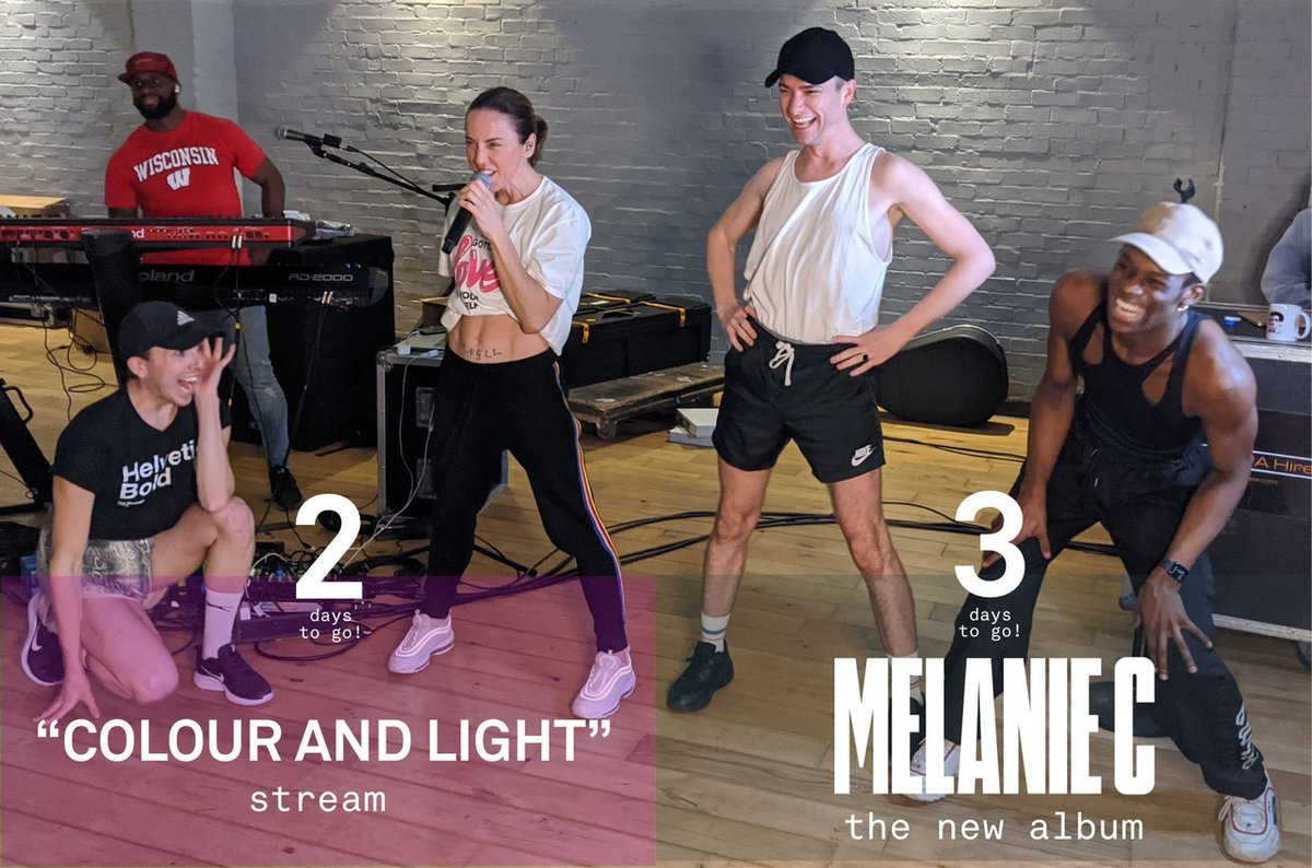 🎤  Hello from rehearsals with my queens from @SinkThePinkLDN  🎆  2 days to the 'Colour and Light' Stream  🤩 3 days to album release  💿 Pre-order your album copy now: https://t.co/gd1iEm4ByO 🎟️ Get your tickets: https://t.co/l37AjOKV3n https://t.co/TnKOGZAz1X