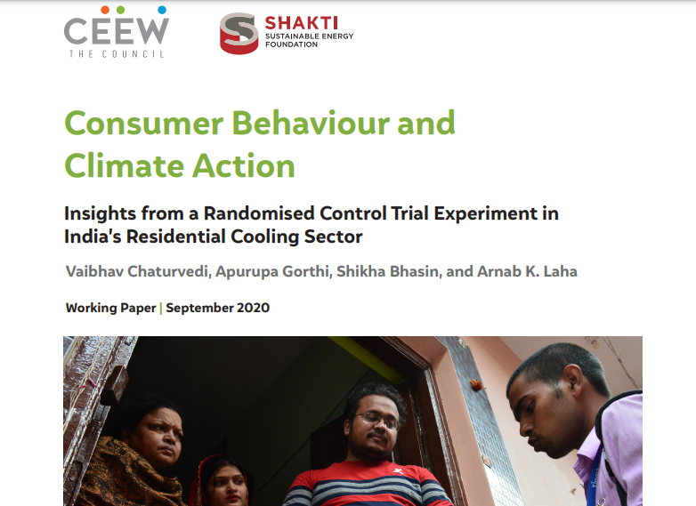 #NewStudy  'Consumer Behaviour and Climate Action: Insights from a Randomised Control Trial Experiment in India's Residential Cooling Sector' by Vaibhav Chaturvedi, @agorthi, @shikha_bhasin & @arnablaha   ➡️https://t.co/4c3YmZkjlr  @ShaktiFdn  #sustainablecooling #ICAP #RCT https://t.co/fh7lShgFLJ
