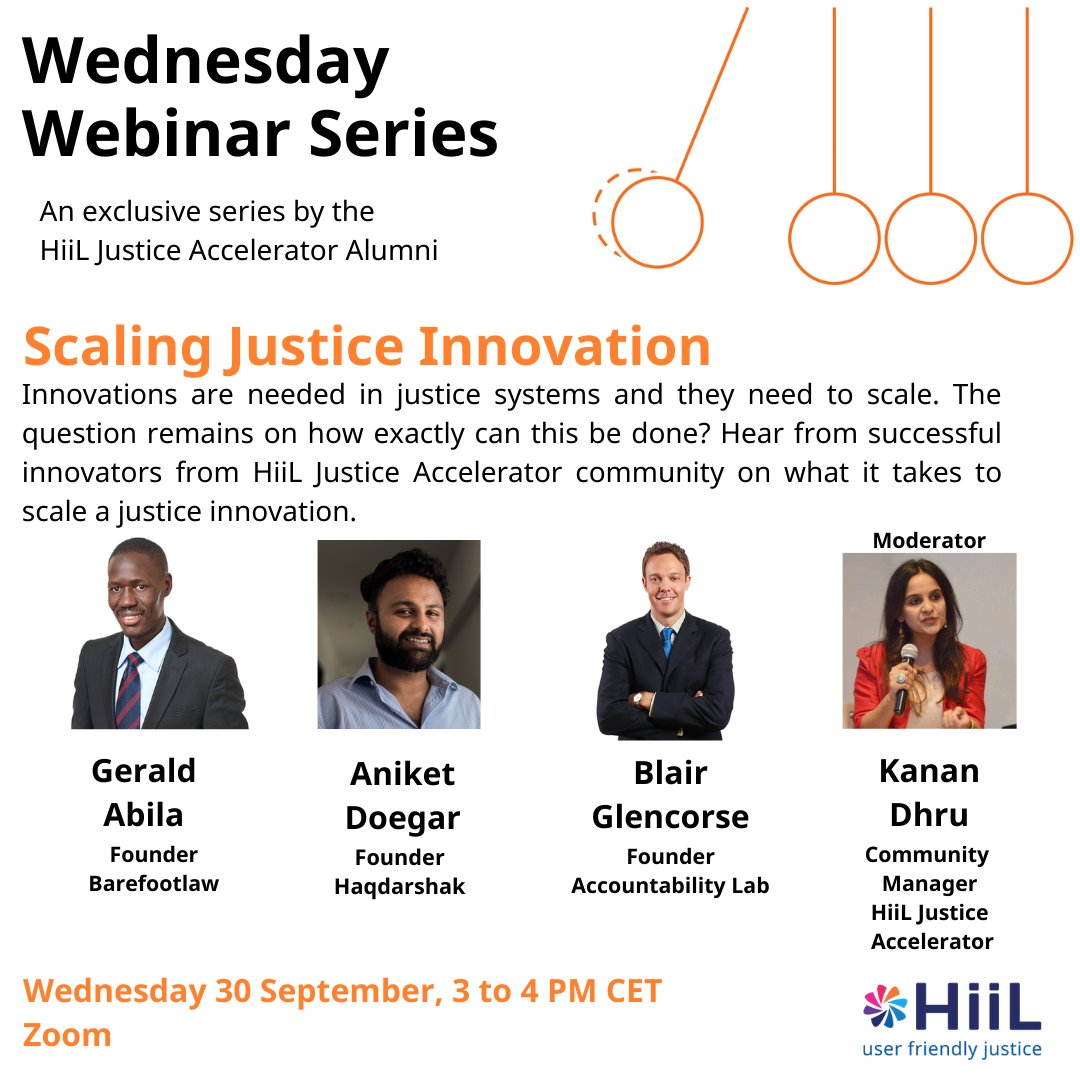 Concluding the five part 'Wednesday Webinar' series with a stellar lineup and a very relevant topic. Hope many of you can join us!  You can register for the Webinar here: https://t.co/l16XIsvdX4  @InnoJustice , @DoegarAniket , @blairglencorse , @abila1914,  #WednesdayWebinar https://t.co/vCxTSfj5Lq