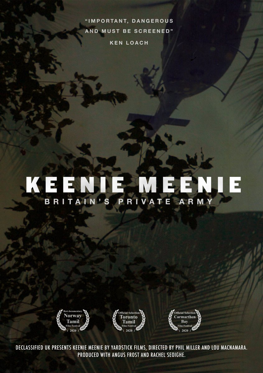 After 4 years in the making, our documentary KEENIE MEENIE will stream next Thursday at 7pm on @declassifiedUK Thanks to the super talented maddie-dai.com for designing our incredible film posters!