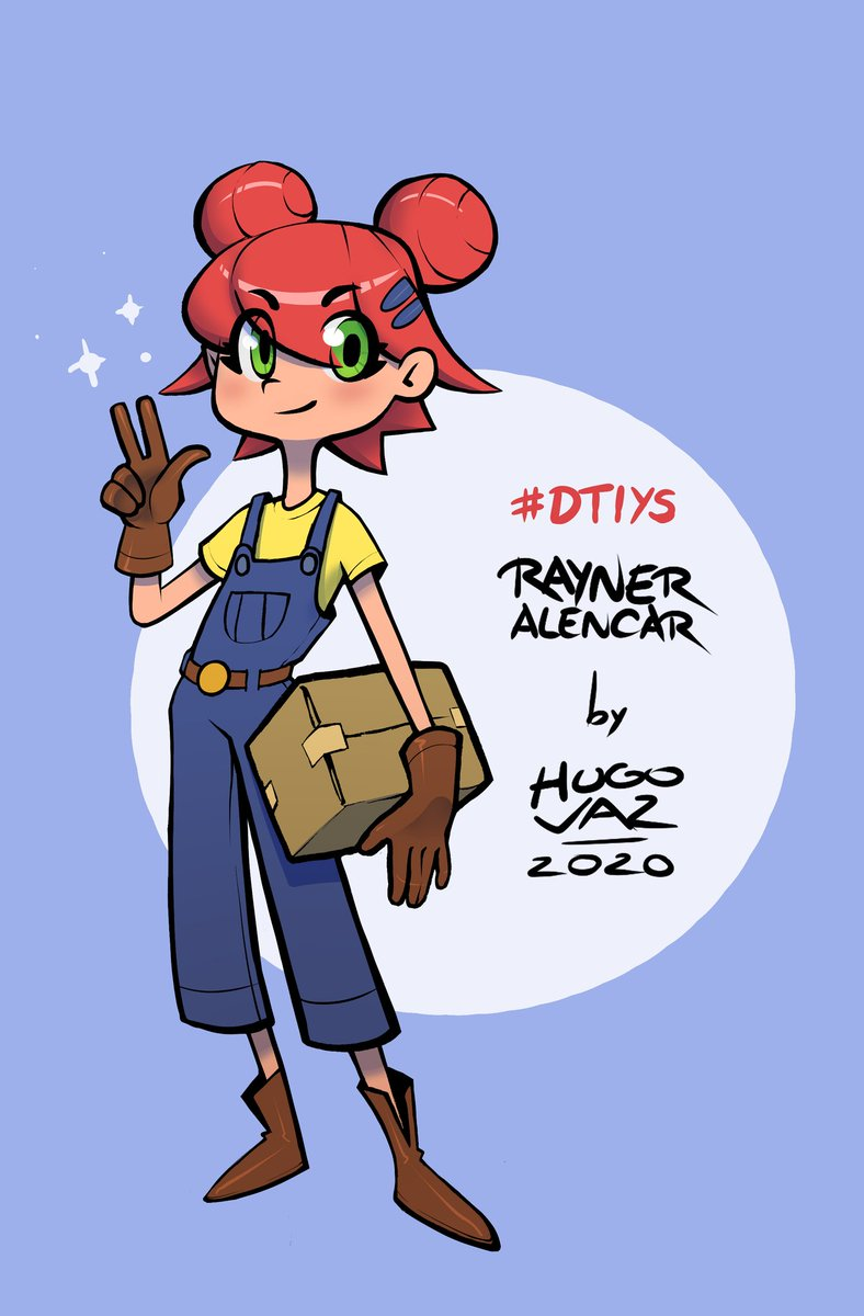 Fechando o #dtiys #drawthisinyourstyle surpresa da personagem do @RaynerAlencar ! Sigam esse cara maravilhoso #digitalart #magicalgirl https://t.co/ewmHqXEGNZ
