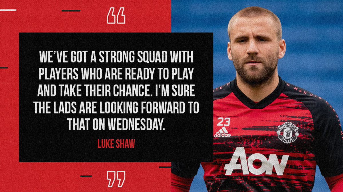 #TuesdayThoughts from @LukeShaw23 💭  #CarabaoCup 🔜 https://t.co/L3ipcpumua