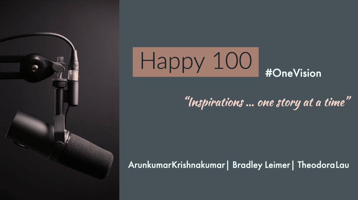 Happy 100!! 🥳  Tune in for a special #OneVision episode as we celebrate!  @Karunk @leimer @UnconventionVc  #FinTech #FinServ #Startups #VC #Innovation #Purpose #Longevity  @thedavedev @Un_Gray @efipm @Chris_Skinner  iTunes https://t.co/y7sJ3WKQIG  Spotify https://t.co/f63SnD8eHu https://t.co/BKcfXvfyEf