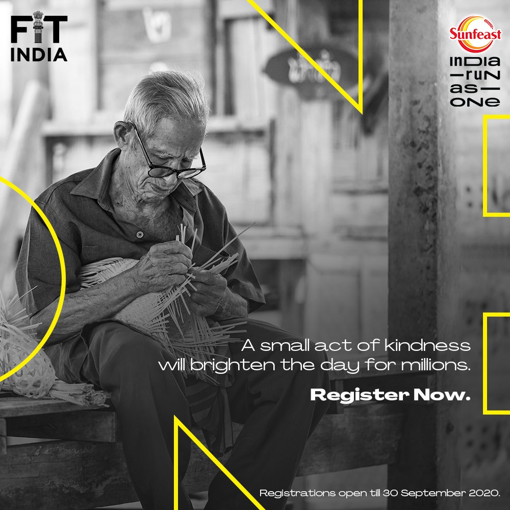 Unite with the nation with just ONE click! 🤝  Register for #SunfeastIndiaRunAsOne here  and uplift the lives of those impacted by the pandemic. Hurry up!   #LivelihoodsMatter